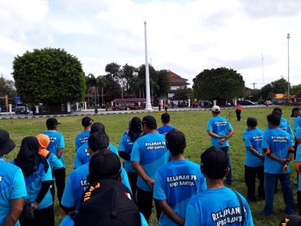 FPRB Desa Wonokromo ikut Apel Siaga Bencana Kabupaten Bantul