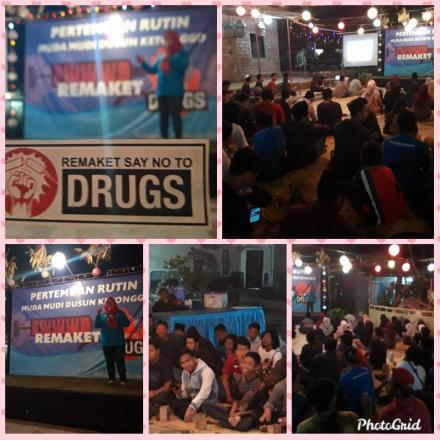 Sosialisasi Bahaya Narkoba Napza di Dusun Ketonggo