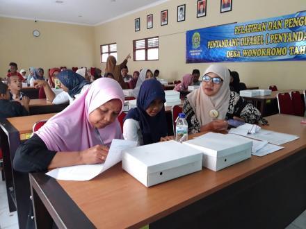 Pelatihan Dan Penguatan Warga Difabel Desa Wonokromo