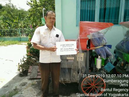 Kelompok Tani Guyub Rukun Brajan Terima Mesin Corn Sheller dari Dinas Pertanian Bantul
