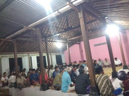 Warga Dusun Jati Desa Wonokromo antusias hadiri sosialisasi pembagian sertifikat PTSL
